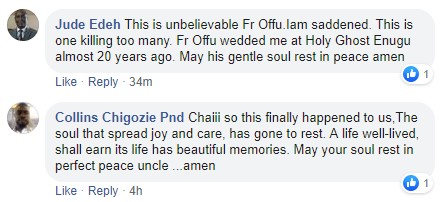 comments on the death of  Rev. Fr. Paul Offu