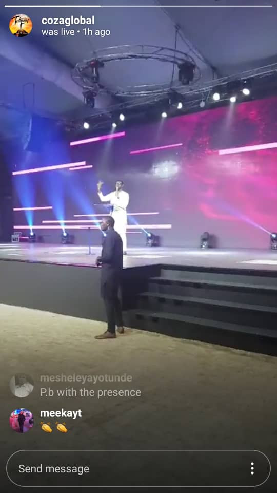 """COZA members rejoice as Biodun Fatoyinbo returns to the pulpit to preach about """"sudden victories"""""""