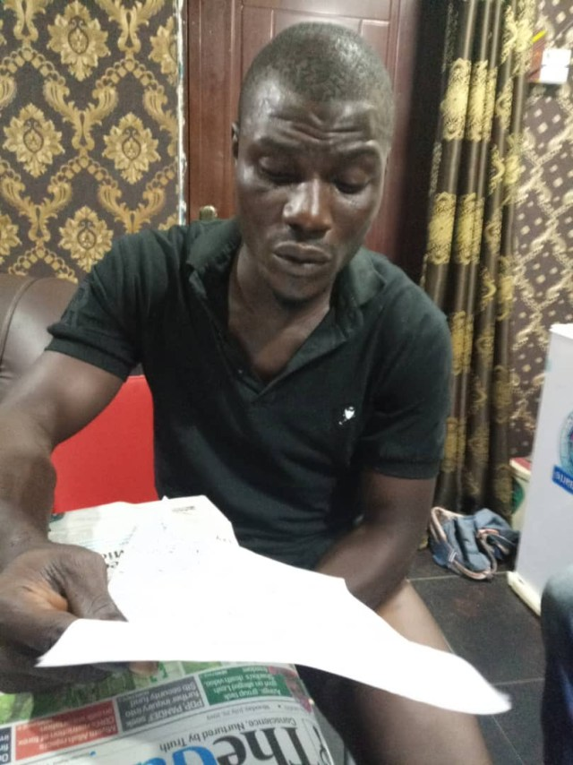 Notorious cult ringleader on police wanted list arrested in Lagos (photo)
