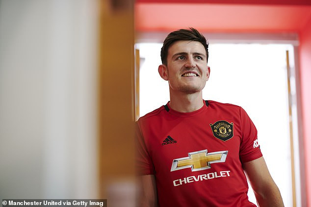 Manchester United complete record signing of Harry Maguire from Leicester City in ?80m move (Photos)