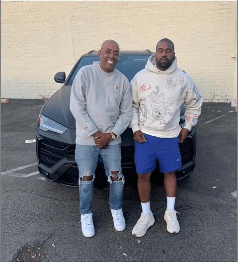 Kanye West surprises his long-time managerJohn Monopoly with a brand new Lamborghini SUV for his birthday (Photo)