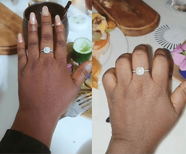 Actress Adediwura Blackgold gets engaged 12 years after divorcing her ex-hubby; see her engagement ring (photos)