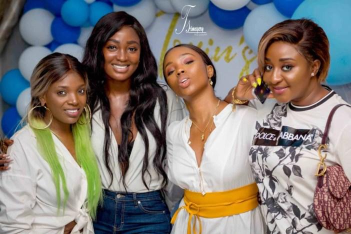 Photos: Ini Edo, Toke Makinwa, Annie Idibia, Iyabo Ojo, Bambam, Osas Ajibade, others at Toyin Abraham