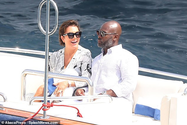 Kris Jenner, 63, cosies up to her beau Corey Gamble, 38, as they enjoy a boat ride in Monaco (Photos)