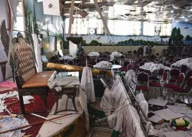 A suicide bomber turned a wedding celebration into horror and carnage, after targeting a packed wedding hall