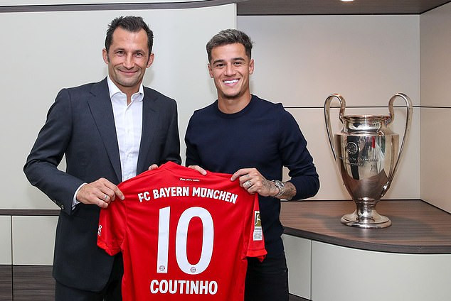 Bayern Munich sign Philippe Coutinho on a season-long loan from Barcelona in a ?19m deal (Photos)