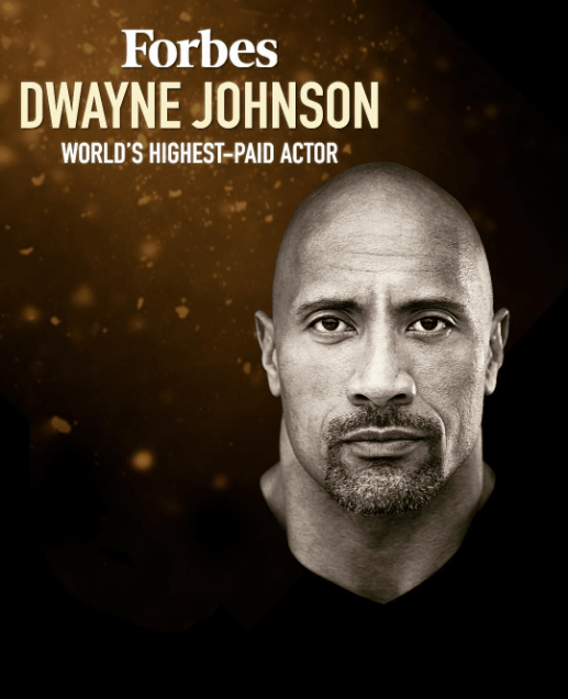"""Dwayne """"The Rock"""" Johnson tops Forbes list of highest-paid actors in 2019"""