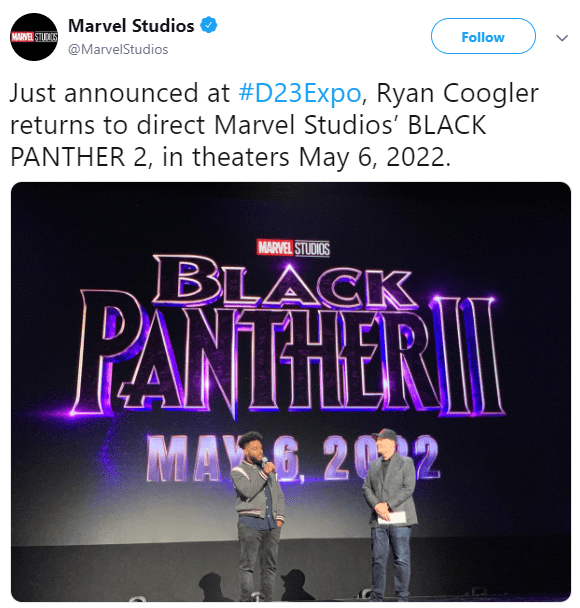Marvel announces Black Panther 2 will be released on May 6, 2022