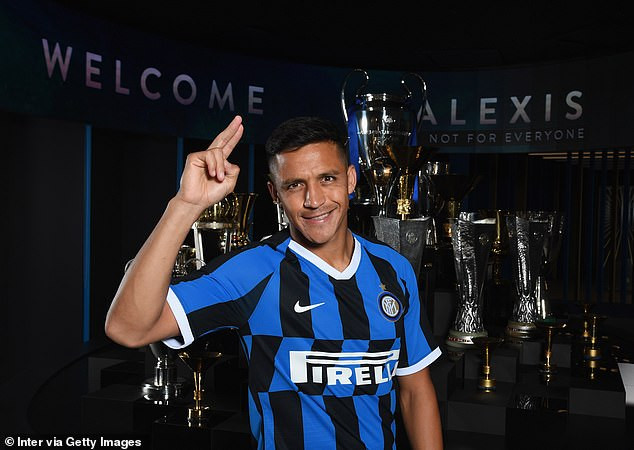 Alexis Sanchez finally completes loan move to Inter Milan from Manchester United (Photos)