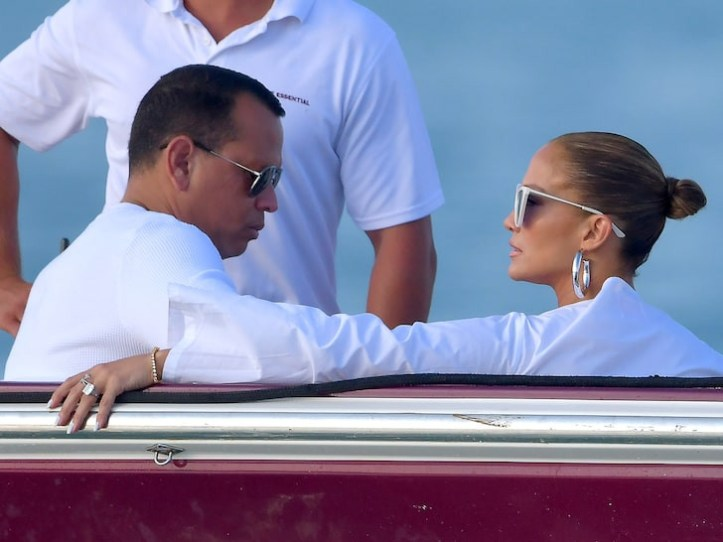 Jennifer Lopez accidentally shows off her private part as she arrives in St. Tropez for Magic Johnson