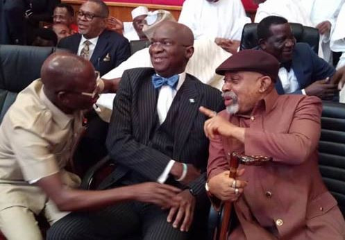 Photos: Oshiomhole, Uche Secondus, Keyamo other arrive as tribunal rules on Atiku?s petition challenging Buhari?s victory