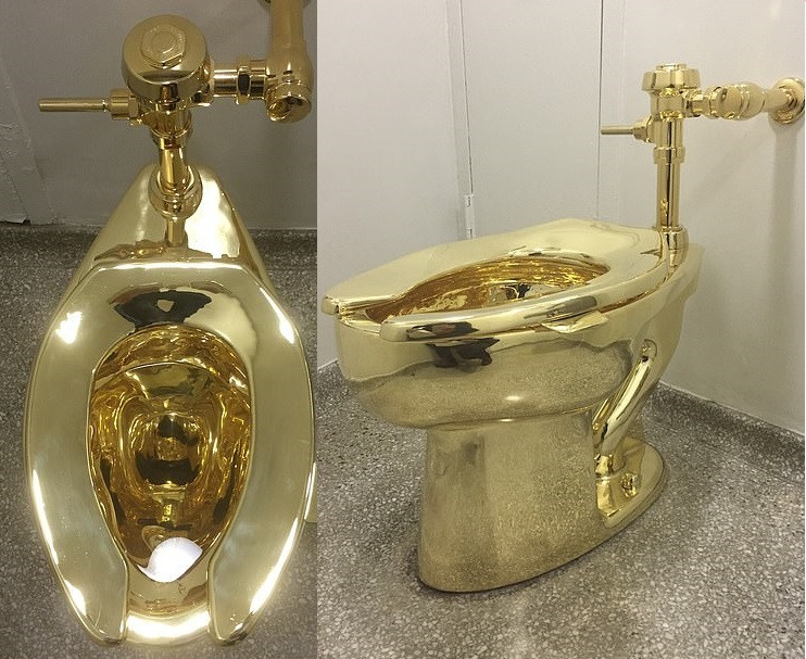 Burglars steal solid gold toilet worth �1milion in a raid on Blenheim Palace (Photos)