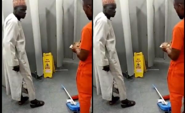 Old man returns money he found in Lagos airport's restroom lindaikejisblog