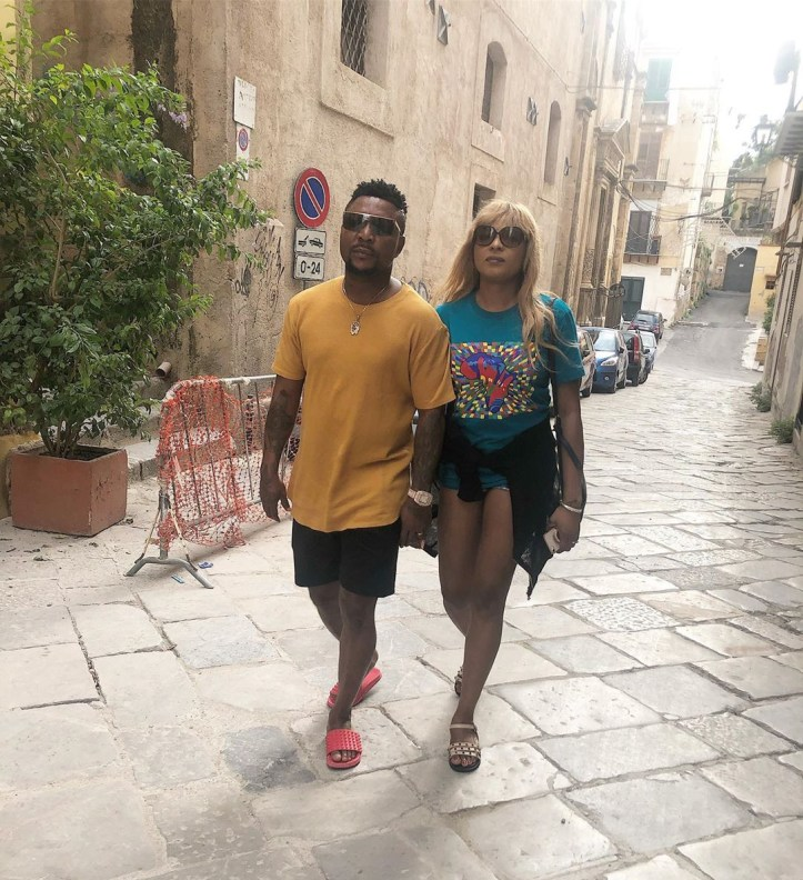 Oritsefemi and his wife, Nabila pack on the PDA during baecation in Italy (Photos)