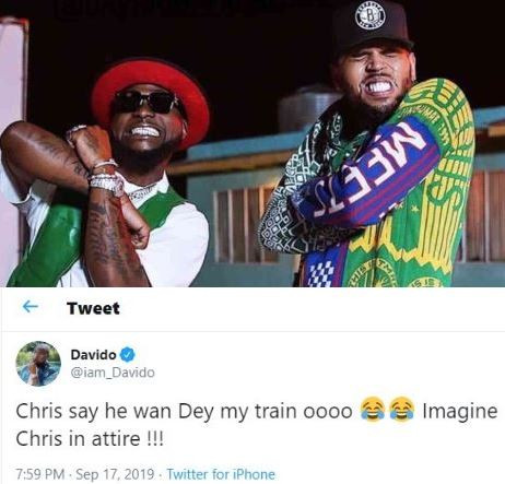 #Assurance202: Chris Brown says�he wants to be on my groomsmen train - Davido