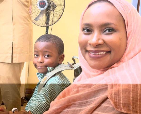 Kaduna State governor, Nasir El-Rufai enrolls his 6-year old son in a public primary school (Photos)