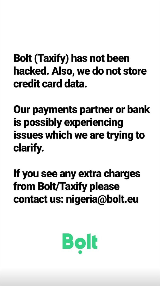 Bolt reacts to alleged server hack as passengers receive multiple debit alerts for trips they never took lindaikejisblog 4