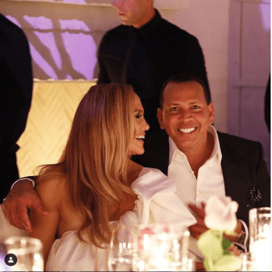 Jennifer Lopez and Alex Rodriguez  engagement party