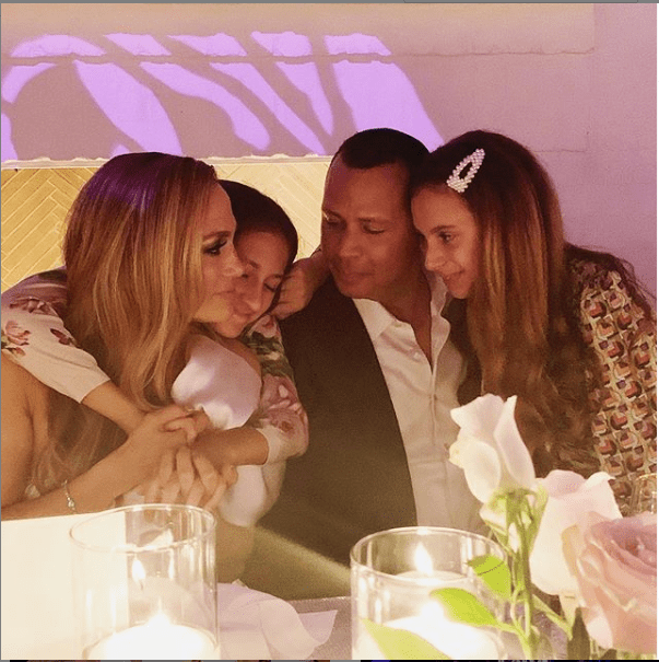 Jennifer Lopez and Alex Rodriguez throw engagement party with family and friends (Photos)