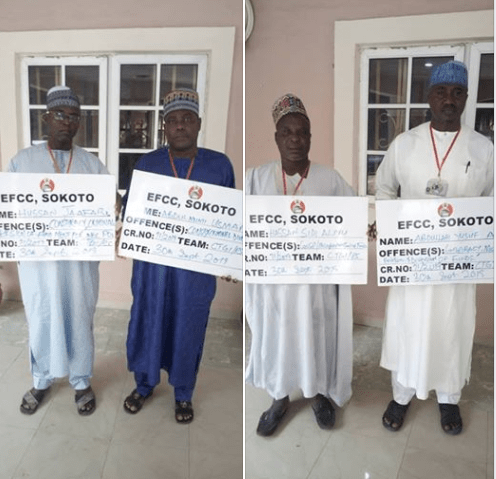 EFCC arrests four�INEC officials�for an alleged case of conspiracy, breach of trust and criminal diversion of�N84million