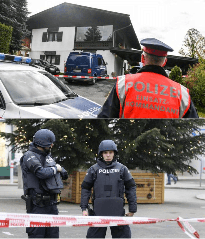 Austrian man kills his 19-year-old ex-girlfriend, her mother, father, brother and her new boyfriend in a shooting spree at upscale ski resort