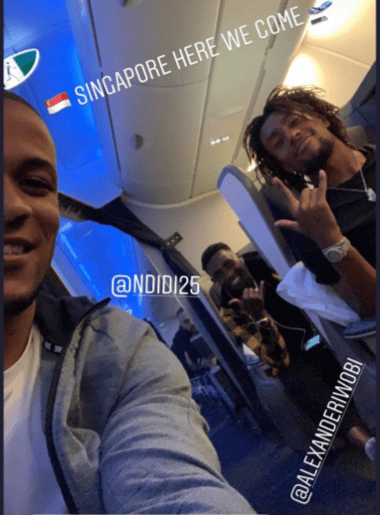 Super Eagles depart for Singapore ahead of?Brazil friendly (Photos)