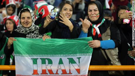 Iranian women finally enter football stadium for first time in 40 years; watch their team beat Cambodia 14-0 (photos)
