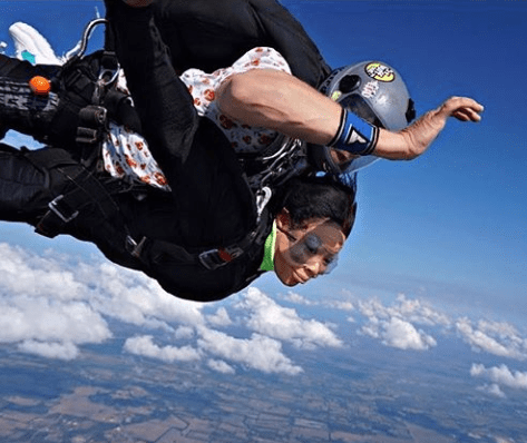 Ex-BBNaija housemate shares photos from her skydiving experience (Photos)