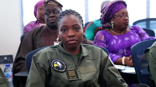 Nigerian Air Force decorates first female combat pilot and first female helicopter pilot (Photos/Video)