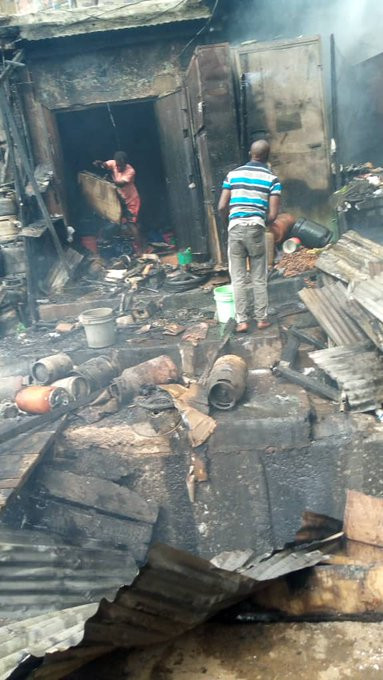 Photos: Mother and child burnt to death as petrol tanker explodes in Onitsha market