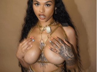Reality star India Love poses topless in new photo (See +18 photo)