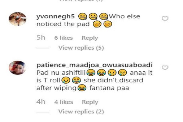 Ghanaian singer, Fantana flashes her sanitary pad while performing on stage (video)