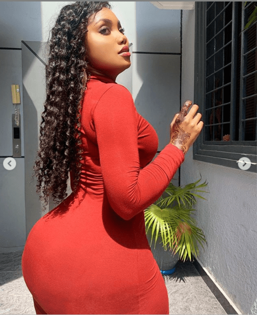 Heavily endowed Tanzanian model, Sanchi flaunts her assets in new photos