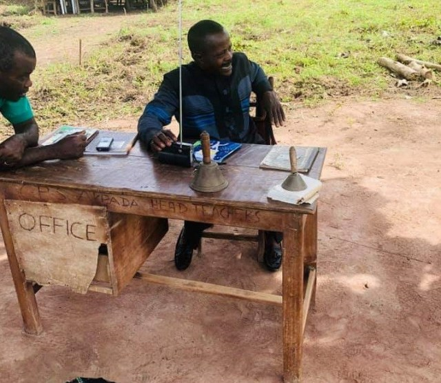 Photos of a primary school in Cross River State where Head Teacher