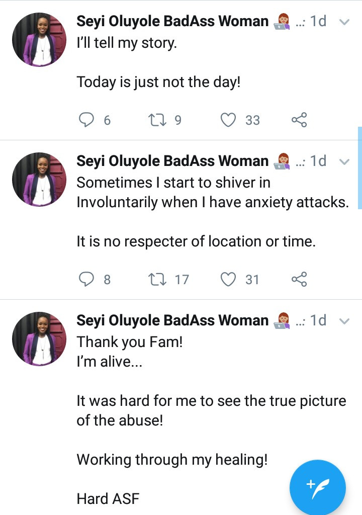 Dream Catchers founder, Seyi Oluyole says her husband tried to kill her in July and she has now left their home