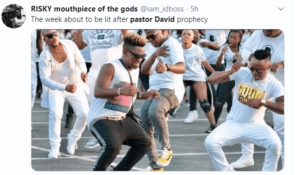 Pastor David is trending on Twitter and here is the reason why....lol