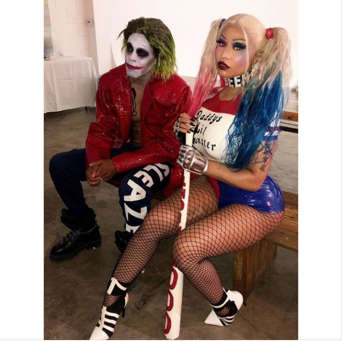 Nicki Minaj and husband Kenneth Petty dress as Joker and Harley Quinn for Halloween (photos)