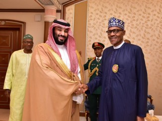 President Buhari meets with Saudi Crown Prince, Mohammed bin Salman (Photos)