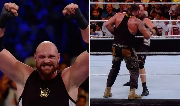 Tyson Fury defeats Braun Strowman with count-out in his debut professional wrestling match in Saudi Arabia (photos/video)