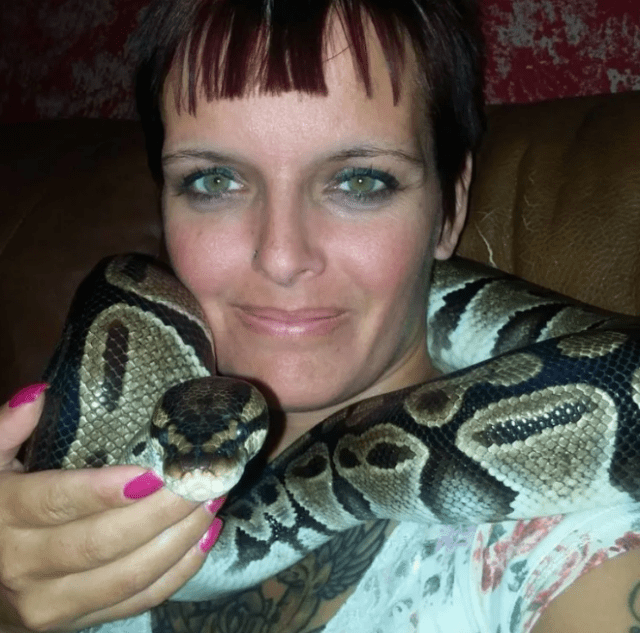 Mother found strangled to death by eight-foot-python in a home filled with 140 snakes (photos)