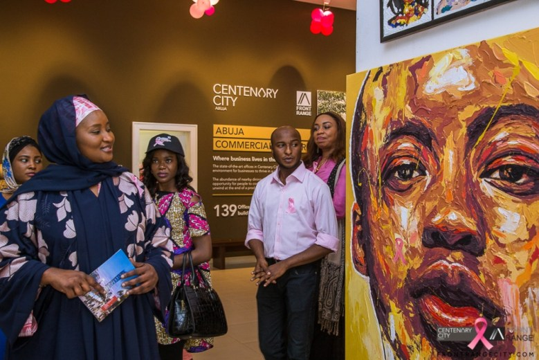 Pictures from just concluded Art Exhibition on Breast Cancer Awareness organised by Centenary City Developers FZE