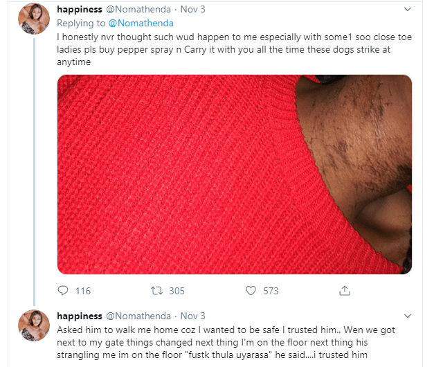 Lady calls out neighbour who she alleged raped her after asking him to walk her home