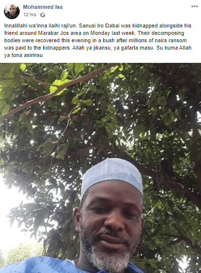 Nigerian man allegedly killed by kidnappers after his family paid ransom for his release (photo)