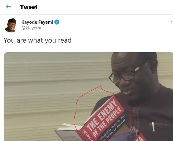 What is wrong with this photo of Governor Fayemi
