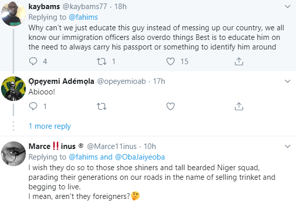 Indian man accuses Nigerian immigration officials of forcefully taking him to their office, Nigerians remind him his country does same to foreigners
