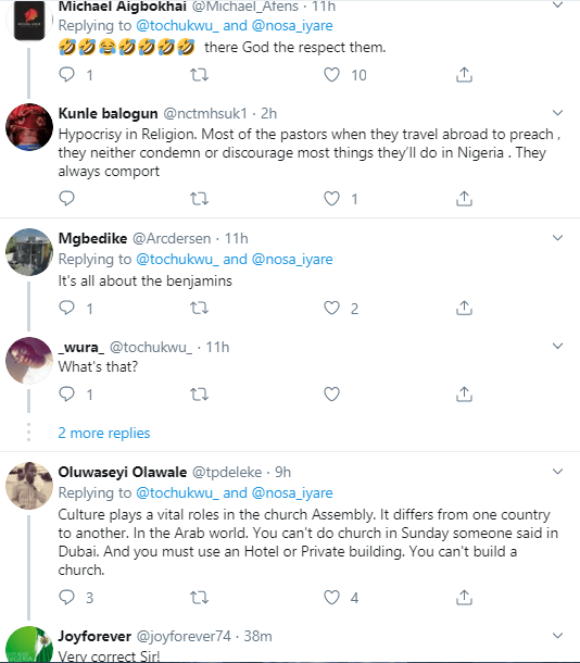 "I guess the God there is not ""strict"" - Twitter users question why Nigerian churches have different rules for their Nigerian members and for foreign church members"