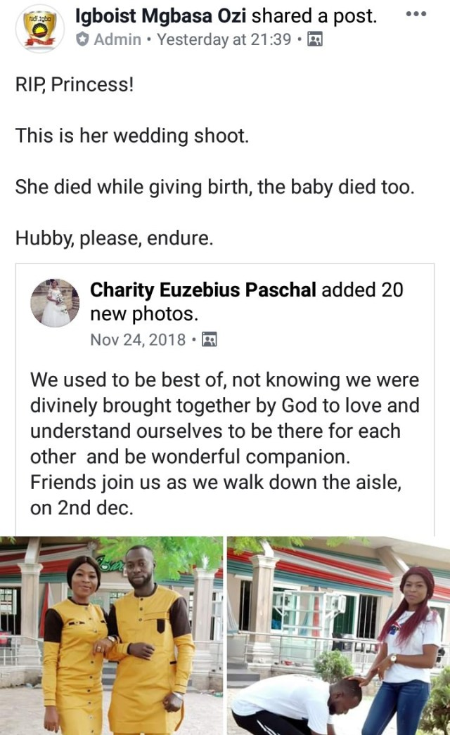 Woman dies during childbirth only months after getting married