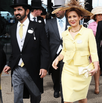 Princess Haya arrives in court to battle with billionaire Dubai ruler husband Sheik Al Maktoum for custody of their children and to stop 'forced marriage' of one of them