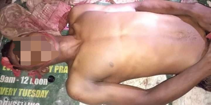 Man on the run after allegedly stabbing his brother to death for disrespecting his girlfriend in Anambra state (graphic photos)