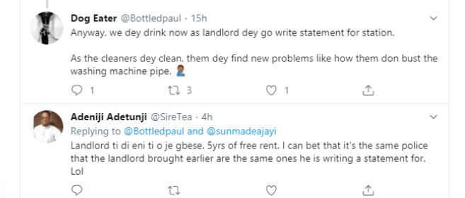 Landlord destroys tenant